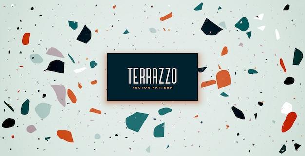 Blauw van de het patroontextuur van de terrazzovloer ontwerp als achtergrond Gratis Vector