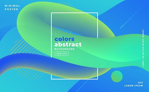 Blauwachtige abstracte vloeistof lus banner Gratis Vector