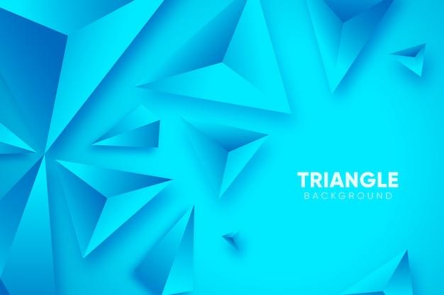 Blauwe 3d achtergrond met driehoeken Gratis Vector