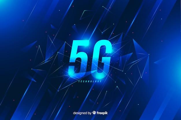 Blauwe 5g concept achtergrond Gratis Vector