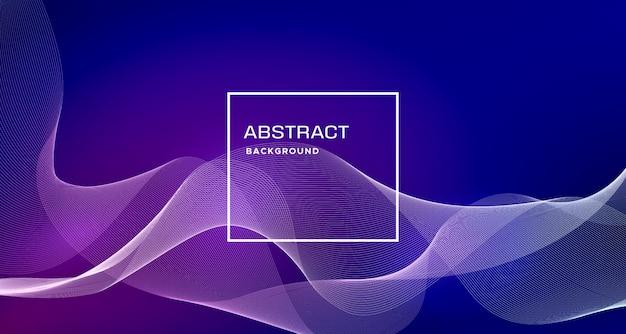 Blauwe abstracte achtergrond met dynamische vormen Gratis Vector