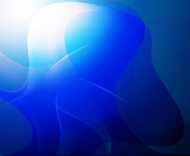 Blauwe abstracte achtergrond vector kunst Gratis Vector