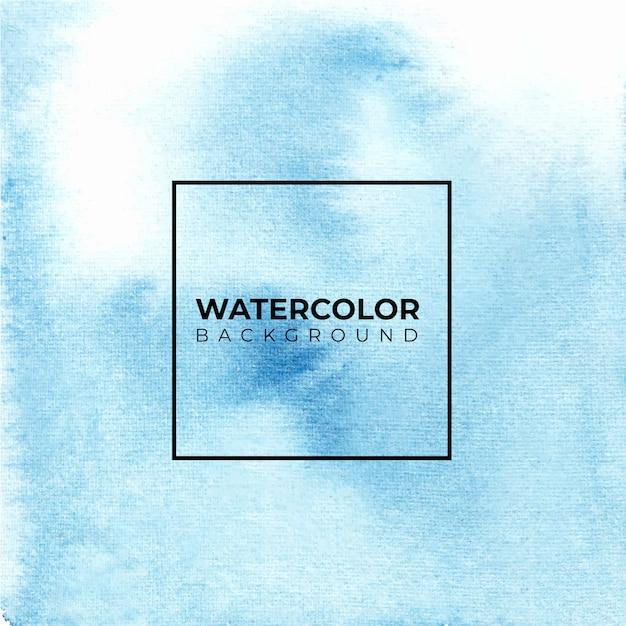 Blauwe abstracte aquarel achtergrond, kleur spatten Premium Vector