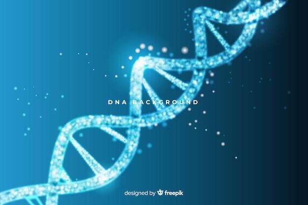 Blauwe abstracte dna-structuurachtergrond Gratis Vector