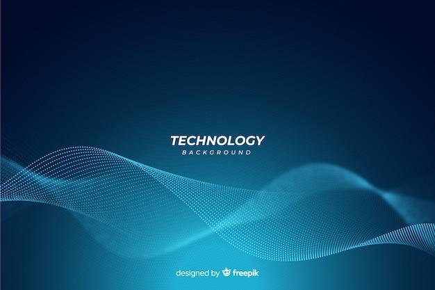 Blauwe abstracte technische achtergrond Gratis Vector