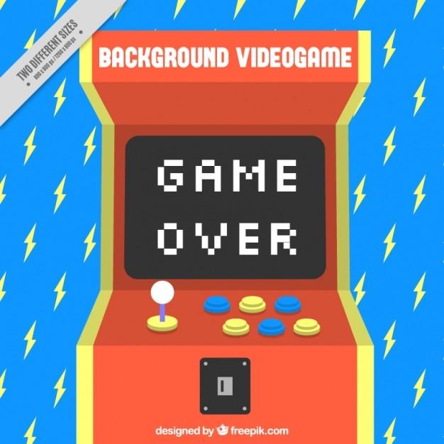 Blauwe achtergrond met bliksem en een console Gratis Vector