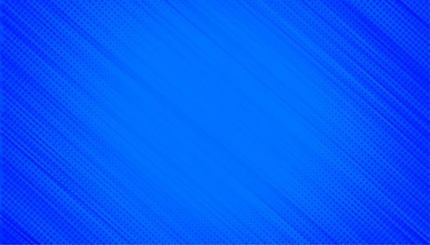Blauwe achtergrond met halftoon diagonale lijnen Gratis Vector