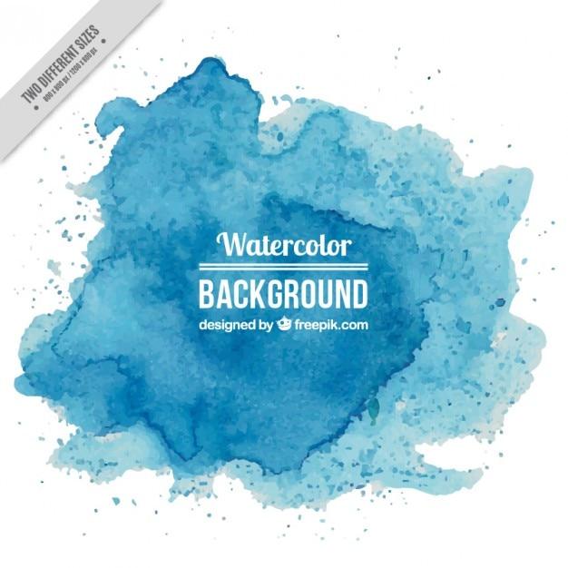 Blauwe aquarel bespat achtergrond Premium Vector