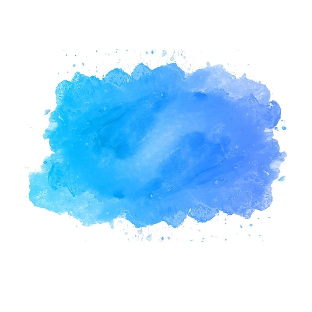 Blauwe aquarel splash achtergrond Gratis Vector
