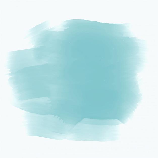 Blauwe aquarel vlek effect achtergrond Gratis Vector