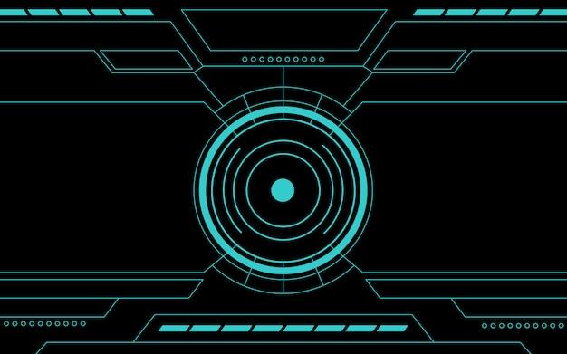 Blauwe controlebord abstracte technologie Premium Vector