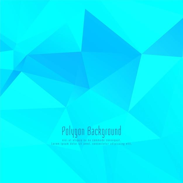 Blauwe elegante veelhoekige achtergrond Gratis Vector