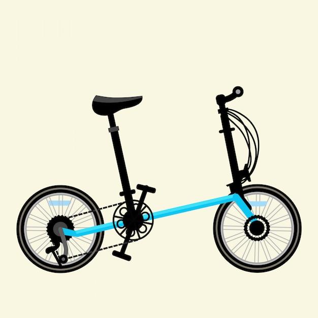 Blauwe fiets vectorillustratie Premium Vector