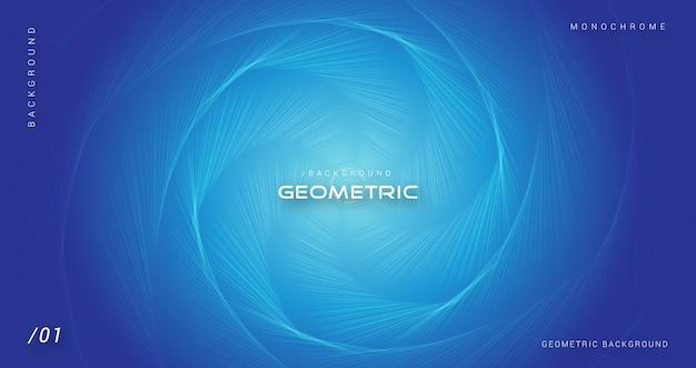 Blauwe geometrische abstracte zeshoekige achtergrond Premium Vector