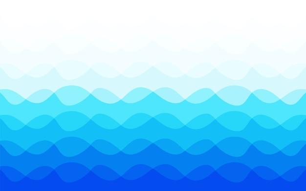 Blauwe golf abstracte achtergrond Premium Vector