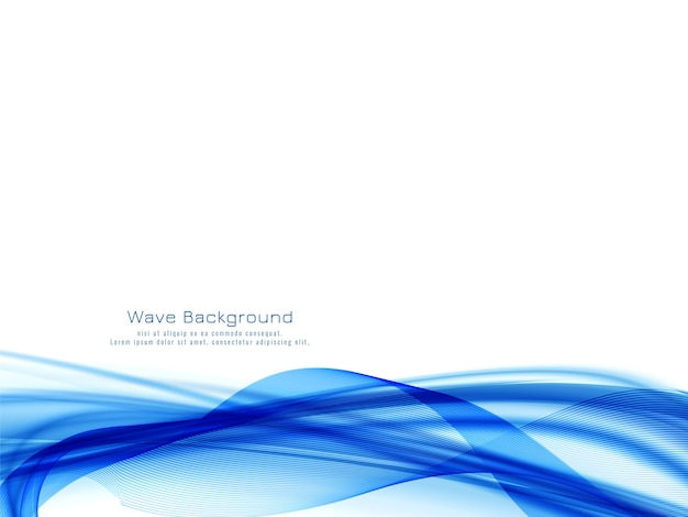 Blauwe golf ontwerp decoratieve moderne achtergrond Gratis Vector