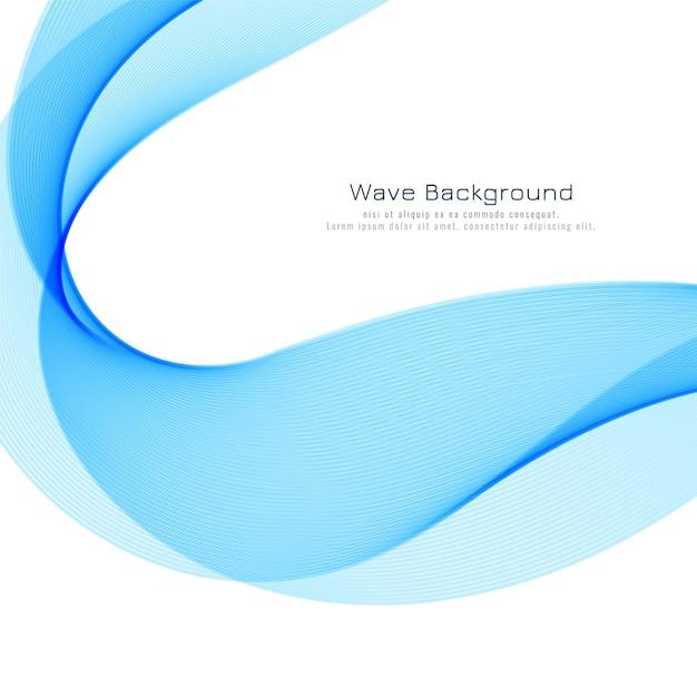 Blauwe golf stijlvolle achtergrond Gratis Vector