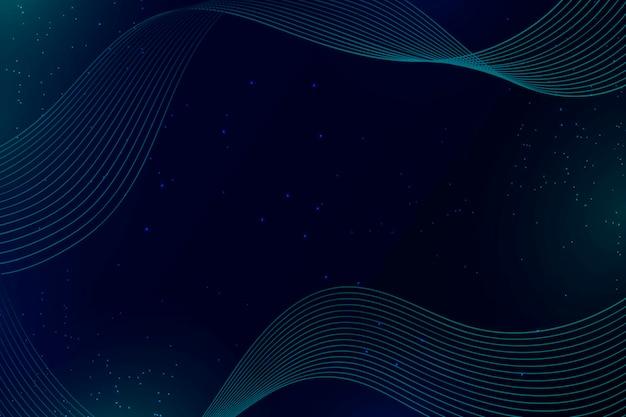 Blauwe golven en stippen abstracte achtergrond Gratis Vector