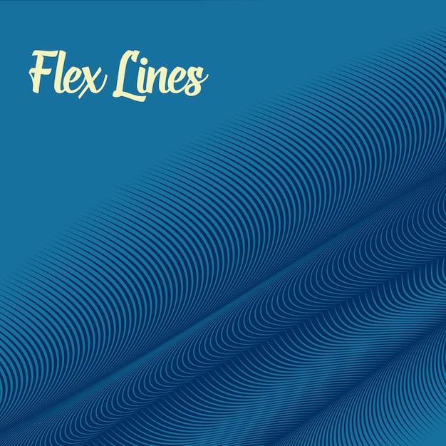 Blauwe golvende lijnenachtergrond Gratis Vector