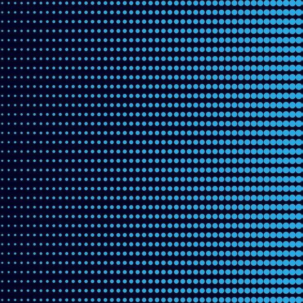 Blauwe gradiënt halftone achtergrondvector Gratis Vector
