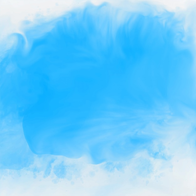 Blauwe inkt effect aquarel textuur achtergrond Gratis Vector