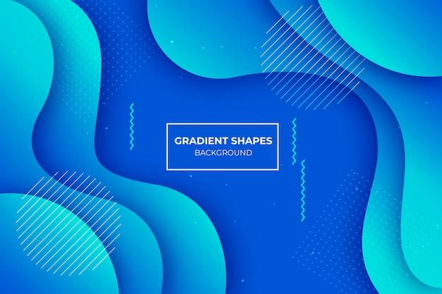 Blauwe kleurverloop vormen achtergrond Gratis Vector