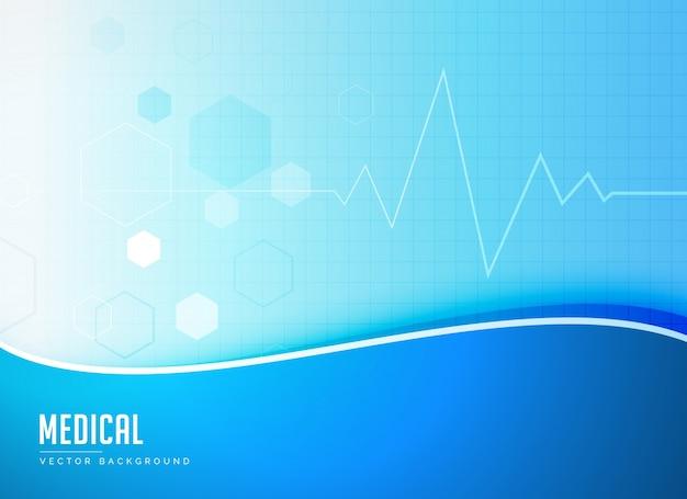 Blauwe medische achtergrond concept poster ontwerp vector Gratis Vector