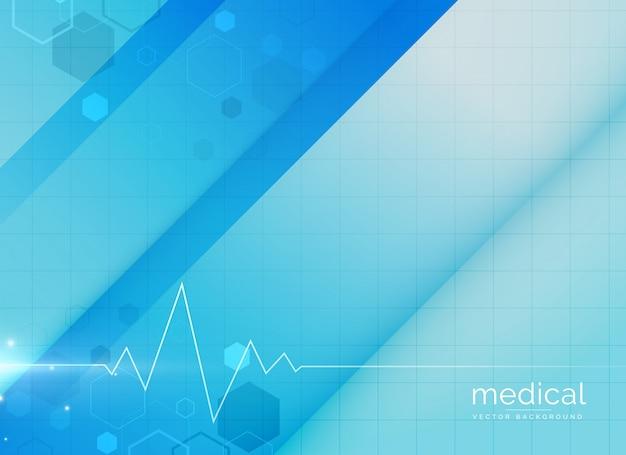 Blauwe medische achtergrond ontwerp illustratie Gratis Vector