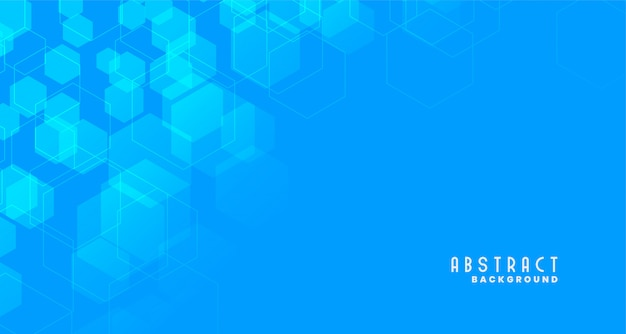Blauwe medische stijl zeshoekige achtergrond Gratis Vector