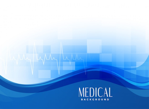 Blauwe moderne medische achtergrond Gratis Vector