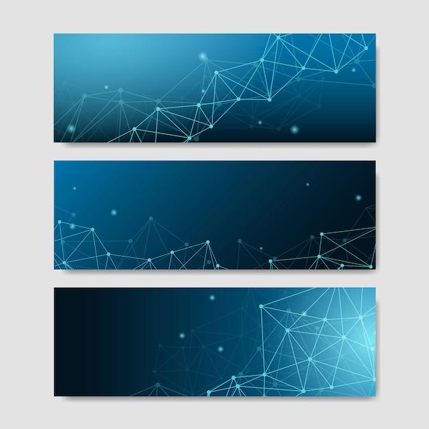 Blauwe neurale textuur abstracte vastgestelde vector Gratis Vector