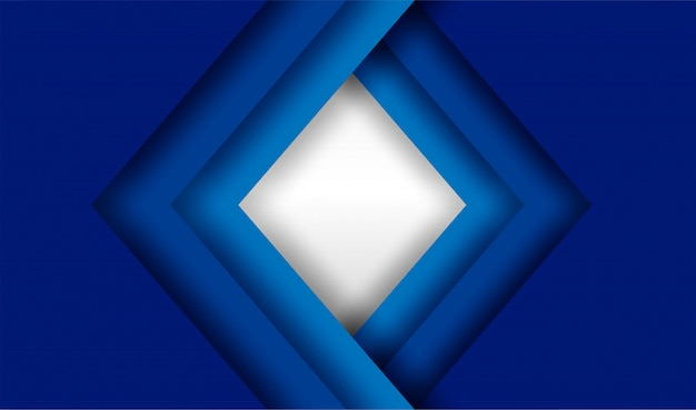 Blauwe overlappingsachtergrond Premium Vector