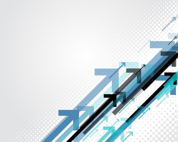 Blauwe pijlen bedrijfsstijl achtergrond Gratis Vector