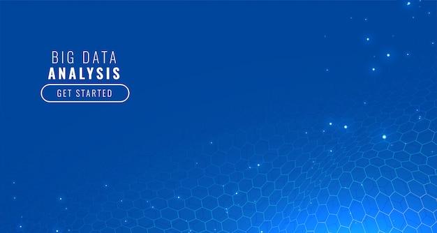 Blauwe technologie zeshoekige achtergrond Gratis Vector