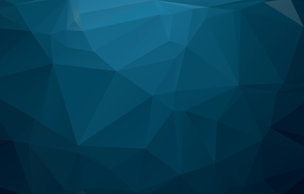 Blauwe veelhoekige illustratie, die uit driehoeken bestaat. Premium Vector