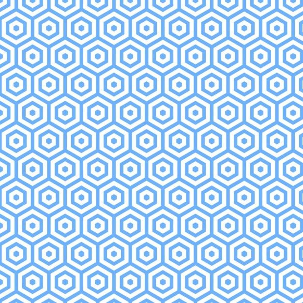 Blauwe veelhoekige patroon ontwerp Gratis Vector