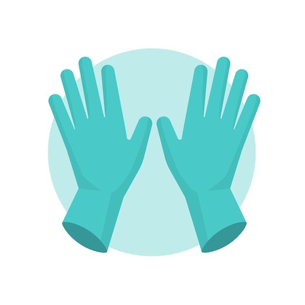 Blauwe veiligheidshandschoenen geïllustreerd Gratis Vector