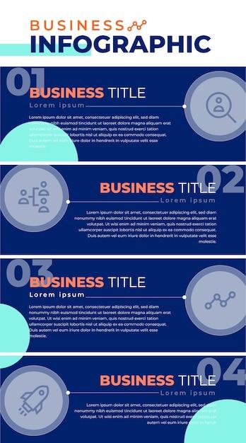 Blauwe zakelijke infographic Gratis Vector