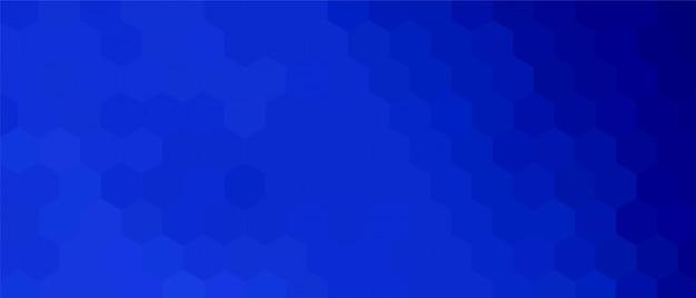 Blauwe zeshoekige achtergrond Gratis Vector
