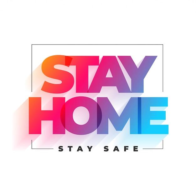Blijf thuis en blijf veilig achtergrondontwerp Gratis Vector