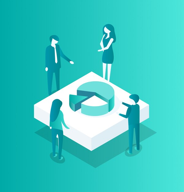 Blockchain crypto meeting icon illustration Premium Vector