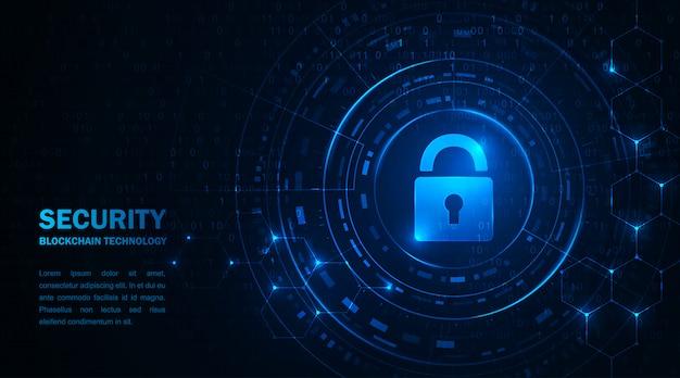 Blockchain-technologie cryptocurrency. informatiebeveiliging van transacties met virtueel geld Premium Vector