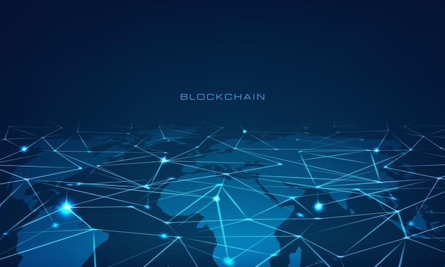 Blockchain-technologie illustratie Premium Vector