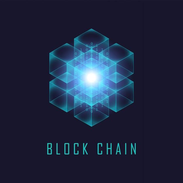 Blockchain-technologie Premium Vector