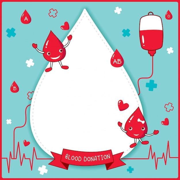 Bloeddonatie blauw Premium Vector
