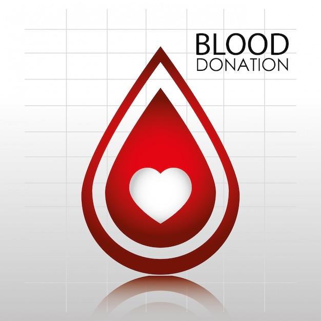 Bloeddonatie logo sjabloon Gratis Vector
