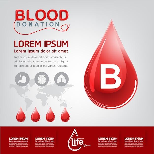 Bloeddonatie vector concept - ziekenhuis om nieuw leven opnieuw te beginnen Premium Vector