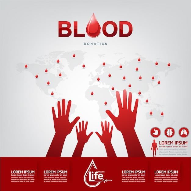Bloeddonatie vector concept Premium Vector