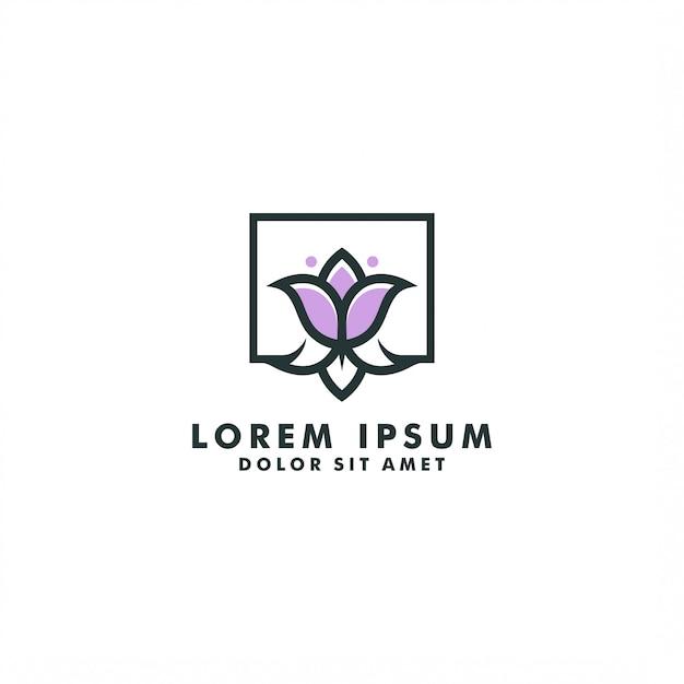 Bloem logo sjabloon, abstracte tulp logo ontwerp vector Premium Vector
