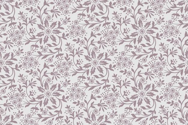 Bloem naadloze patroon achtergrond. elegante textuur voor achtergronden. Gratis Vector